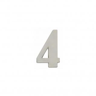 Intersteel Hausnummer 4 Nickel matt
