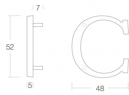 Intersteel Hausbuchstabe C Chrom matt - Vorschau 2