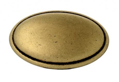 Möbelknopf Schubladenknopf Küchenknopf Knopf Küchengriff antik Messing Höhe 18mm - Vorschau 4