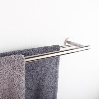Handtuchhalter Handtuchablage aus Edelstahl - matt gebürstet - Länge 600 mm