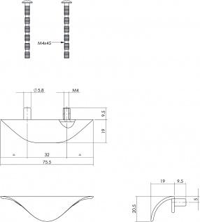 Intersteel Schubladengriff 76 mm Chrom matt - Vorschau 2