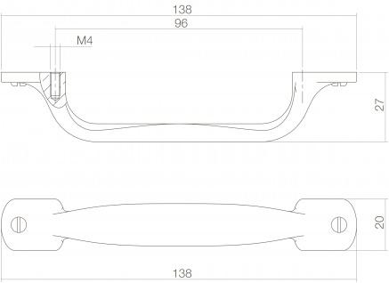 Intersteel Möbelgriff 138 mm Messing lackiert - Vorschau 2