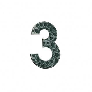 Hausnummern Schmiedeeisen schwarz verzinkt, Ziffer: 3 - Vorschau