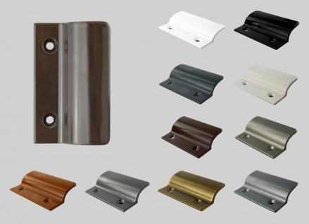 Balkontürgriff Ziehgriff Terrassentürgriff aus Metall - graubraun - Länge 62 mm