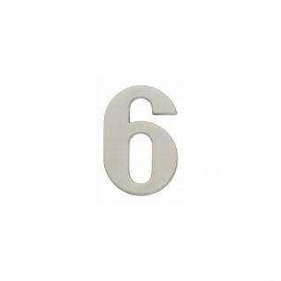 Intersteel Hausnummer 6 Nickel matt
