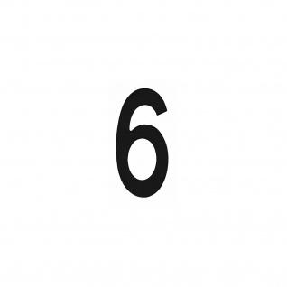 Intersteel Hausnummer 6 Mattschwarz