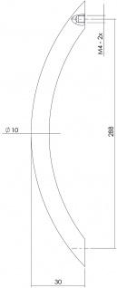 Intersteel Möbelgriff Gebogen 302 mm Nickel matt - Vorschau 2