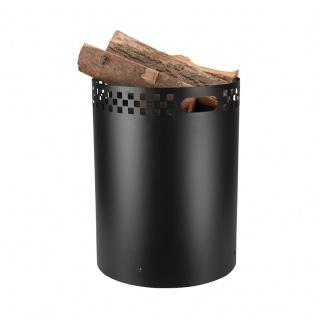 Square, Holztonne Eisen, schwarz beschichtet, H 52 cm, Ø 39 cm, 8, 4 kg