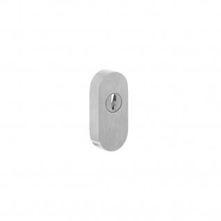 Intersteel Sicherheits-Schubrosette mit Kernziehschutz für Profiltüren gebürsteter Edelstahl
