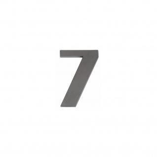 Intersteel Hausnummer 7 mattschwarzes Titan PVD