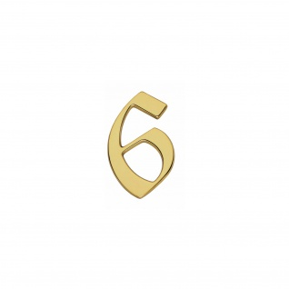 Intersteel Hausnummer Gotisch 6 Messing lackiert