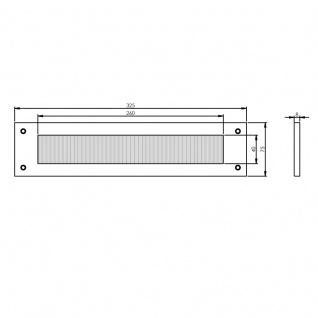Intersteel Zugluftschutz Briefkastenklappe rechteckig Nickel - Vorschau 2
