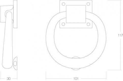 Intersteel Türklopfer Messing lackiert - Vorschau 2