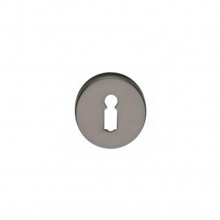 Intersteel Rosette mit Schlüsselloch Titan anthrazit PVD