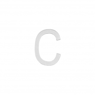 Intersteel Hausbuchstabe C 100 mm Edelstahl gebürstet