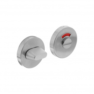 Intersteel Rosette mit Toiletten-/Badezimmerverriegelung rund verdeckt Edelstahl gebürstet 8 mm