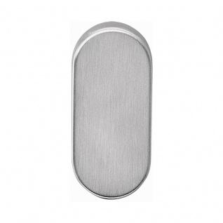 Corona Kugelknopf fest auf Rosette oder als Knopflochteil für Profiltüren, Edelstahl matt, Rosette blind, DIN