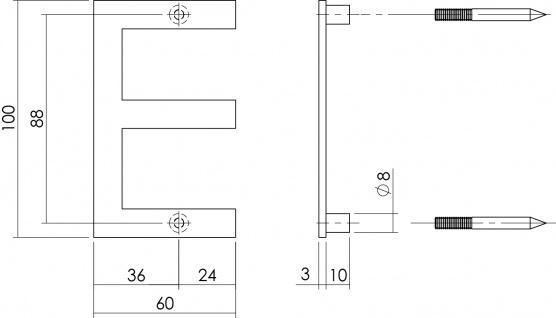 Intersteel Hausbuchstabe E 100 mm Edelstahl gebürstet - Vorschau 2