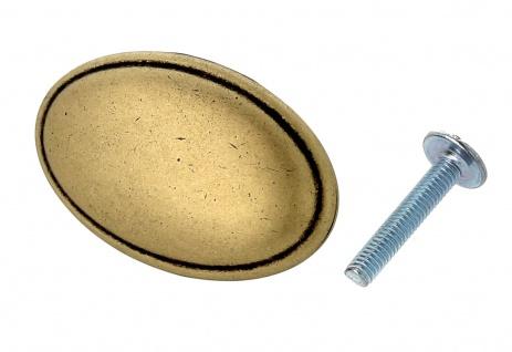 Möbelknopf Schubladenknopf Küchenknopf Knopf Küchengriff antik Messing Höhe 18mm - Vorschau 2