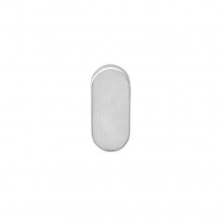 Intersteel Rosette oval verdeckt Edelstahl gebürstet 10 mm