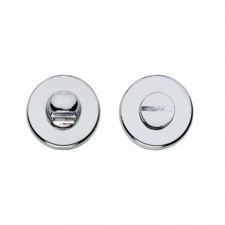 Intersteel Rosette Toiletten-/Badezimmerverriegelung rund verdeckt Kunststoff Chrom 5 mm