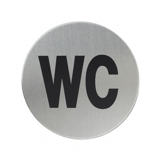 WC-Hinweisschild Hinweisschild WC, Edelstahl matt