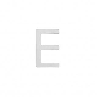 Intersteel Hausbuchstabe E 100 mm Edelstahl gebürstet - Vorschau 1