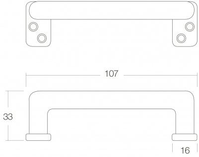 Intersteel Möbelgriff gerade 108 mm Chrom matt - Vorschau 2