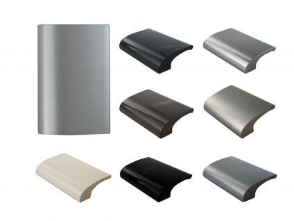 Balkongriff Ziehgriff Terrassentürgriff Deluxe verschiedene Farben - Silber