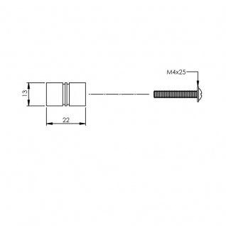 Intersteel Möbelknauf ø 13 mm gebürsteter Edelstahl - Vorschau 2