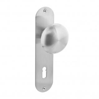 Intersteel Knauf auf flachem Schild mit Schlüsselloch 72 mm Edelstahl gebürstet