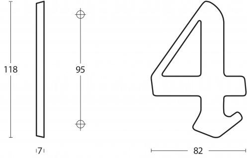 Intersteel Hausnummer Gotisch 8 Messing lackiert - Vorschau 2
