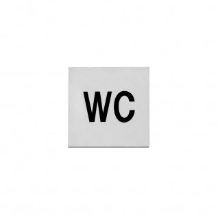 Intersteel Hinweisschilder Toilette selbstklebend gebürsteter Edelstahl