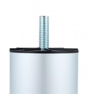 Möbelfuss Sofafuss Sesselfuss mit M8 Gewindestift Höhe 80mm in Chrom- Chrom matt - Vorschau 2