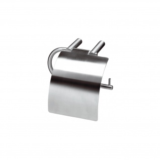 Intersteel WC-Rollenhalter mit Klappe gebürsteter Edelstahl