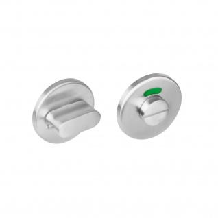 Intersteel Rosette mit Toiletten-/Badezimmerverriegelung rund Edelstahl gebürstet 8 mm