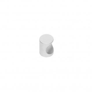 Intersteel Möbelknauf mit Fingermulde ø 18 mm Edelstahl gebürstet