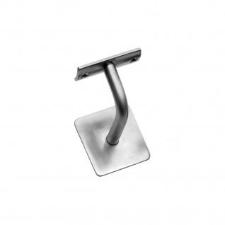 Intersteel Handlaufhalter verbogen runde Auflage mit Stockschraube Eckig gebürsteter Edelstahl