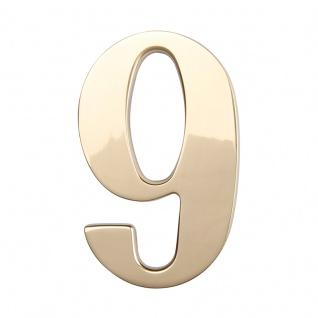 Hausnummern Messing poliert, Ziffer: 9 - Vorschau