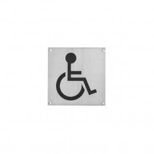 Intersteel Hinweisschilder Behindertentoilette Rechteckig gebürsteter Edelstahl