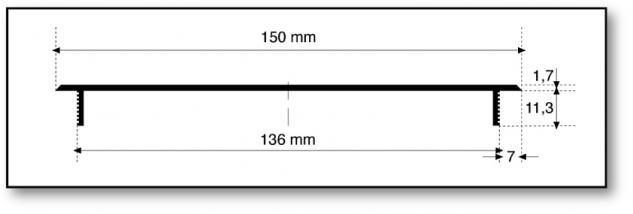 Aluminium Lüftungsgitter Stegblech Heizungsdeckel Silber eloxiert 150mm x 1000mm - Vorschau 3