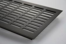 Aluminium Lüftungsgitter Stegblech Braun eloxiert Breite 130mm x 1000mm