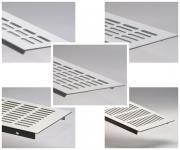 Aluminium Lüftungsgitter Stegblech - Weiß pulverbeschichtet - Länge 1500 mm - diverse Breiten