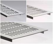 Aluminium Lüftungsgitter Stegblech - Silber eloxiert - Länge 1500 mm - diverse Breiten