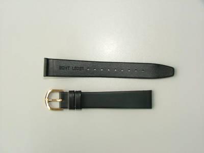10 Uhrenarmbänder schwarz Leder 16mm Anstoß - Vorschau