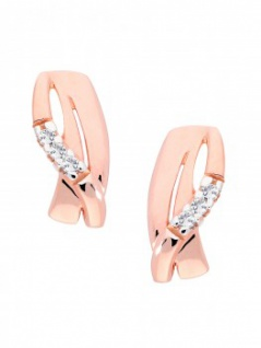 Avril - Diamant Ohrstecker Rotgold - 0, 04ct.