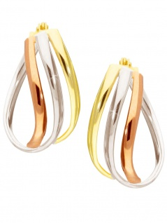 Jessica - Creolen Gold - tricolor