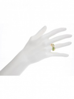 Jacotte - Diamant Smaragd Ring mit Edelstein Gold - 0, 19ct. 5
