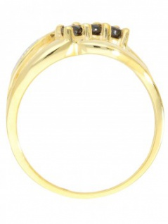 Our Lady - Saphir Diamant Ring mit Edelstein Gold - 0, 01ct. 4