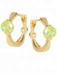 Peach Beauty - Peridot Edelsteinohrringe Gold